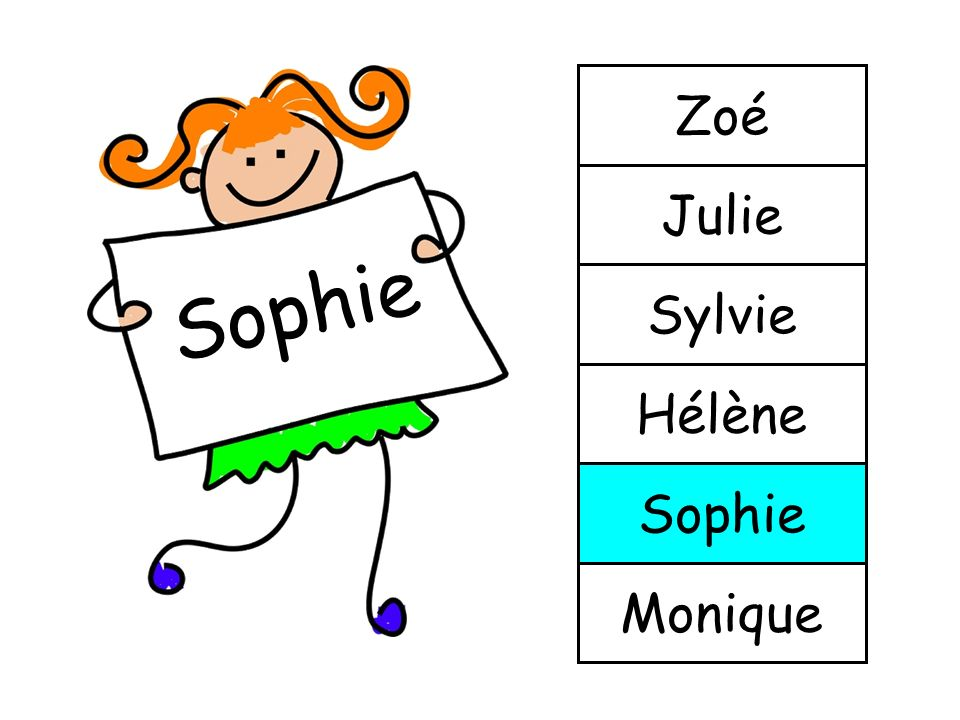 Zoé Julie Sophie Sylvie Hélène Sophie Monique