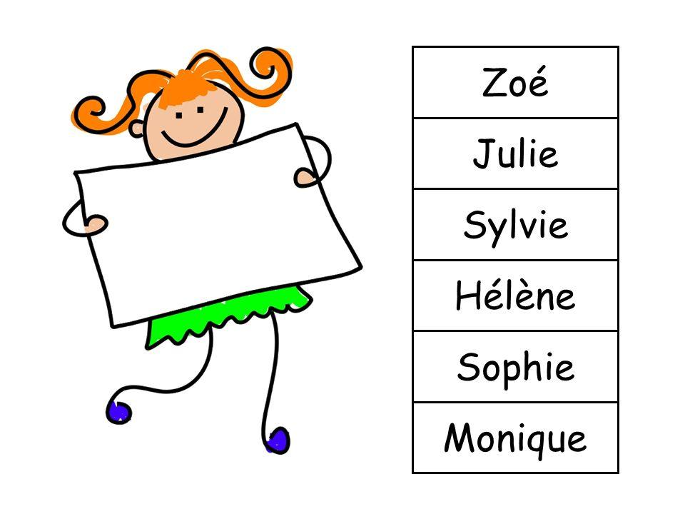 Zoé Julie Sylvie Hélène Sophie Monique