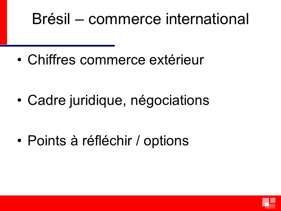 Brésil – commerce international