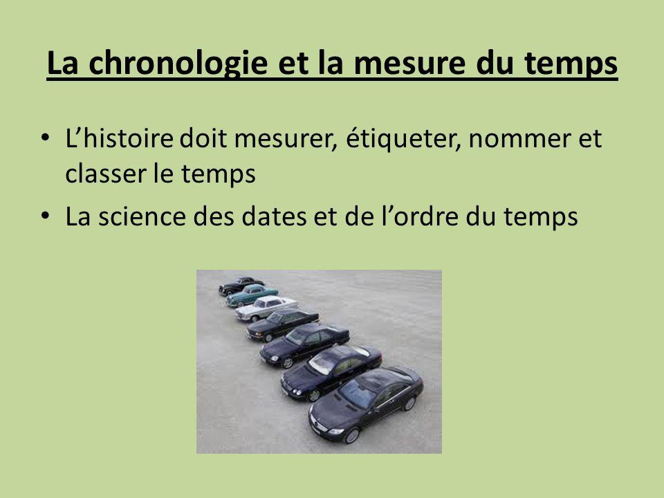 La chronologie et la mesure du temps