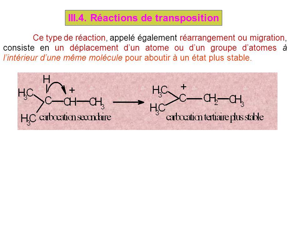 III.4. Réactions de transposition