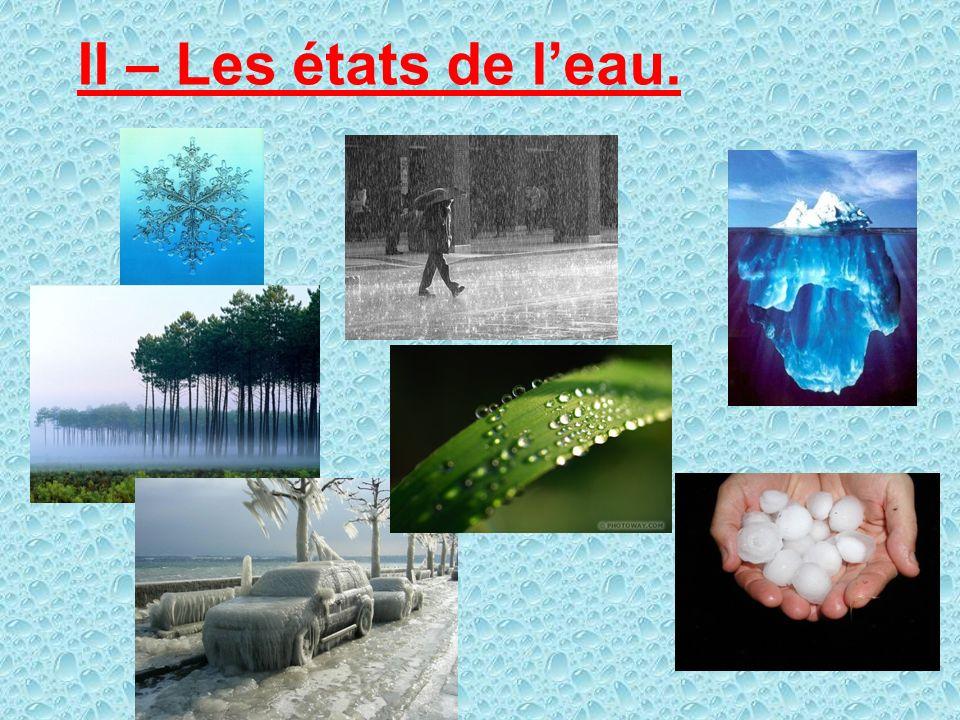 II – Les états de l'eau.