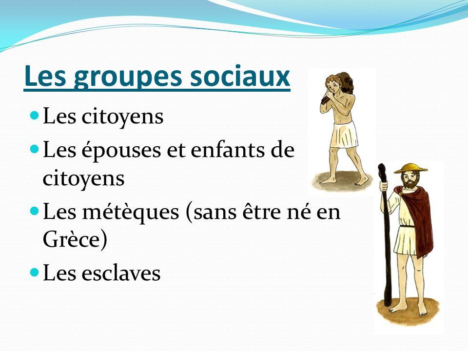 Les groupes sociaux Les citoyens Les épouses et enfants de citoyens