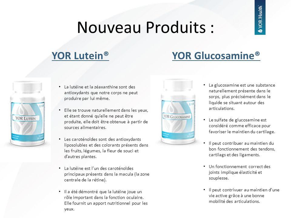 Nouveau Produits : YOR Lutein® YOR Glucosamine®