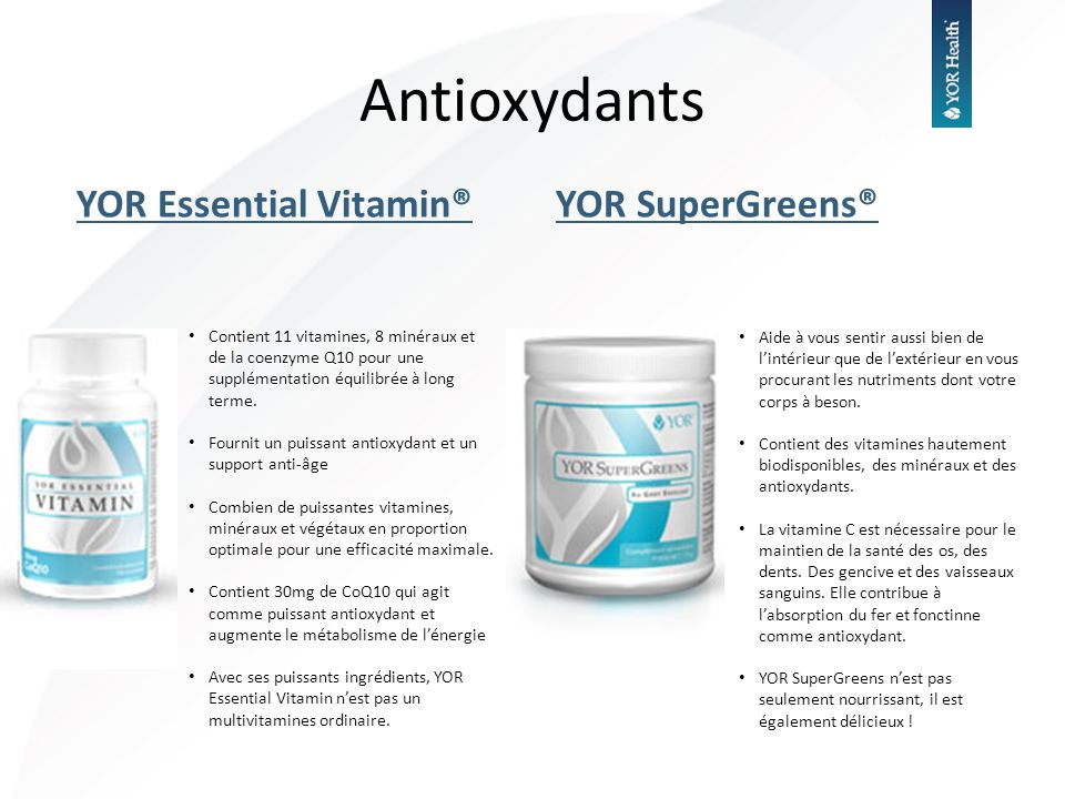 Antioxydants YOR Essential Vitamin® YOR SuperGreens®