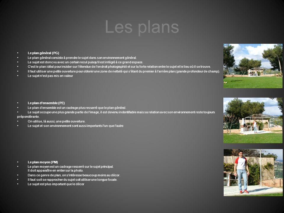 Les plans Le plan général (PG)