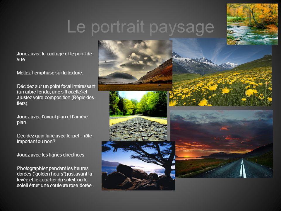 Le portrait paysage