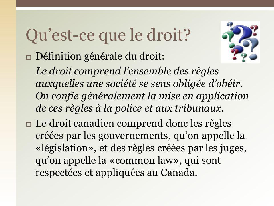 Qu'est-ce que le droit Définition générale du droit: