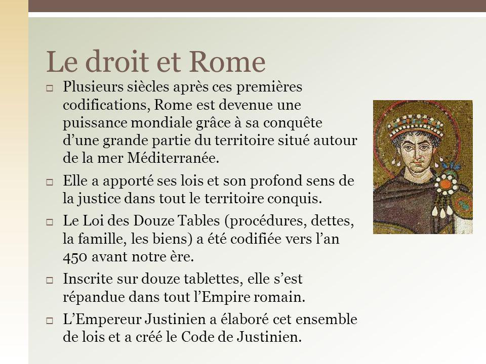 Le droit et Rome