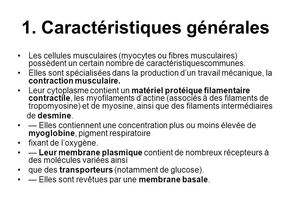 1. Caractéristiques générales