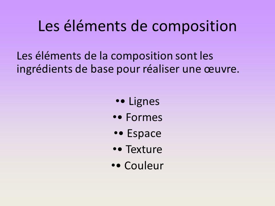 Les éléments de composition