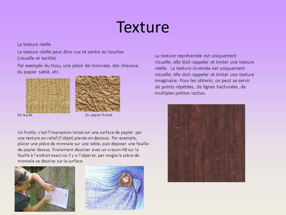Texture La texture réelle