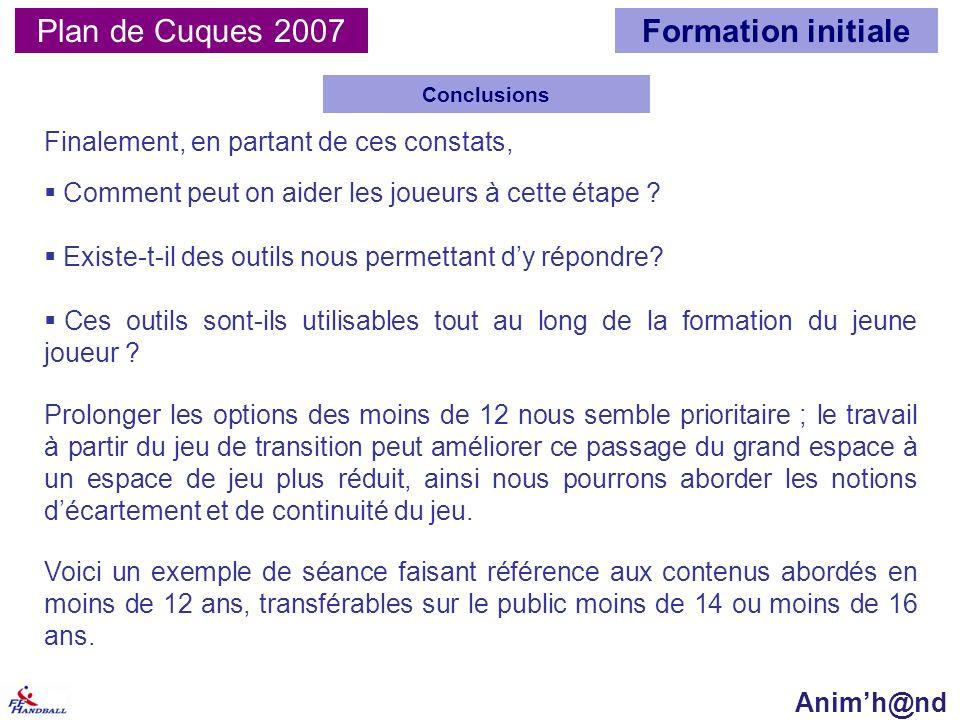 Plan de Cuques 2007 Conclusions