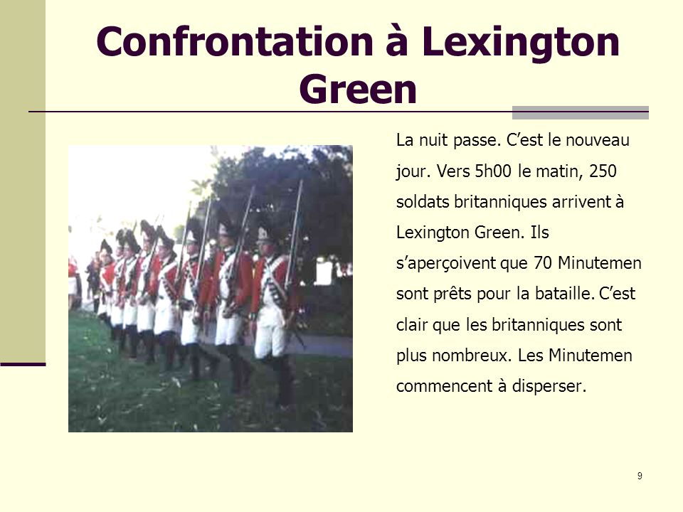 Confrontation à Lexington Green