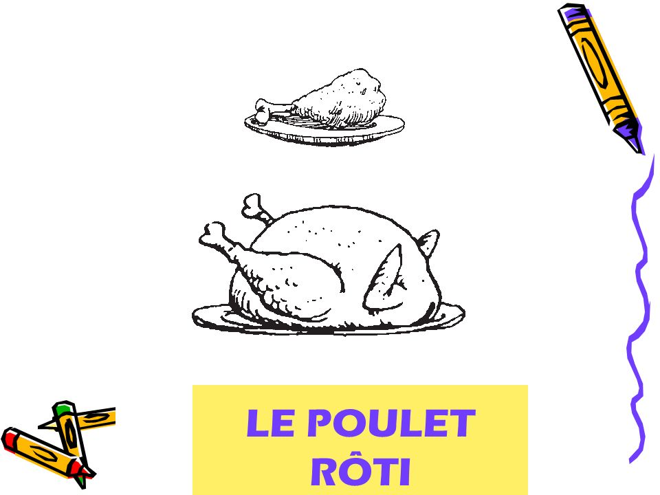 LE POULET RÔTI roast chicken