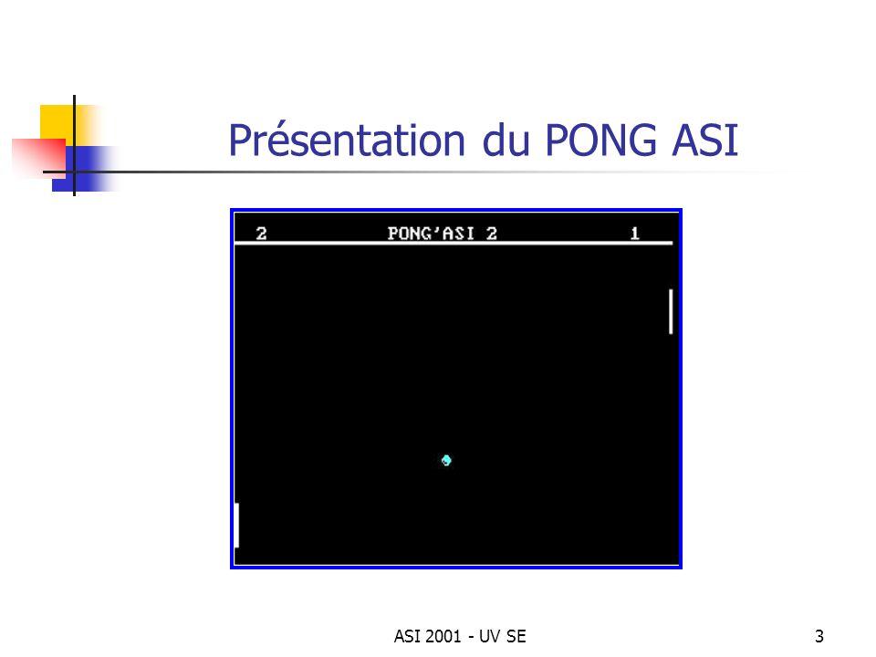 Présentation du PONG ASI