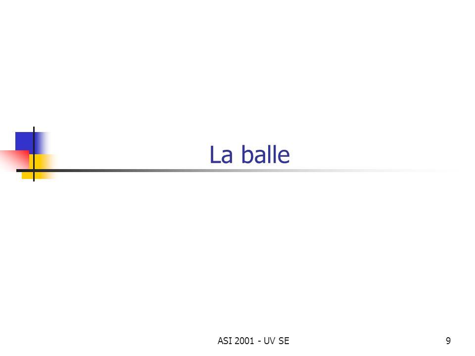 La balle ASI 2001 - UV SE