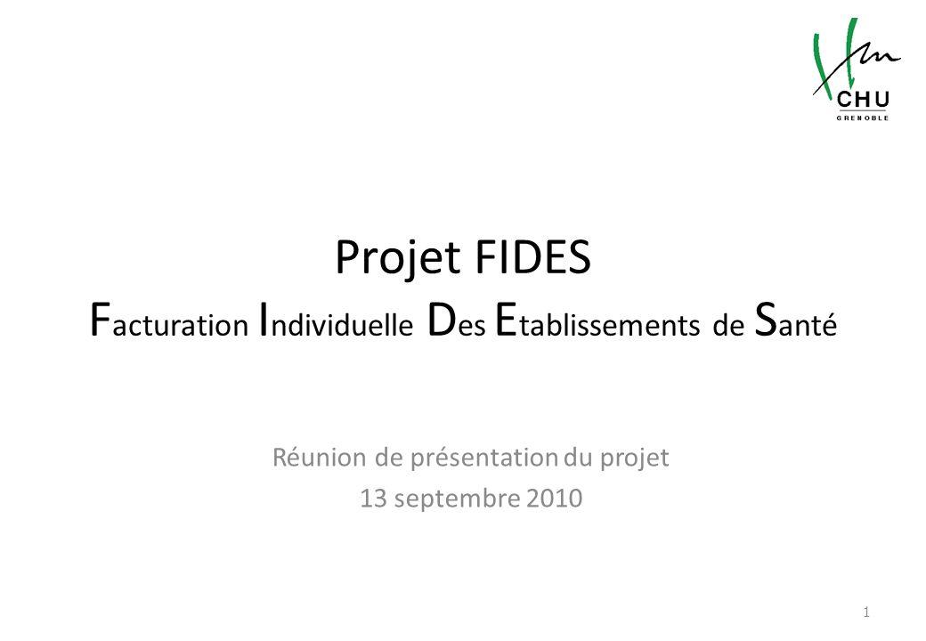 Projet FIDES Facturation Individuelle Des Etablissements de Santé