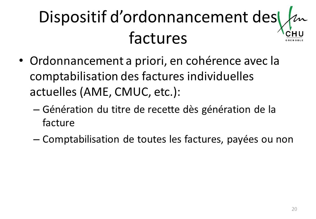 Dispositif d'ordonnancement des factures