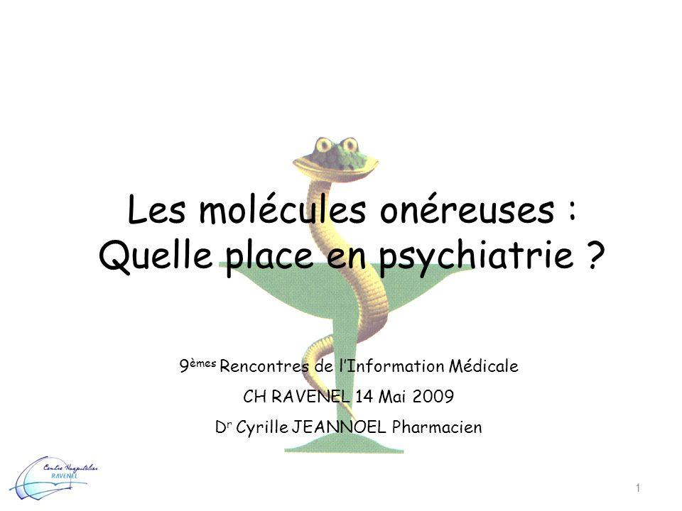 Les molécules onéreuses : Quelle place en psychiatrie