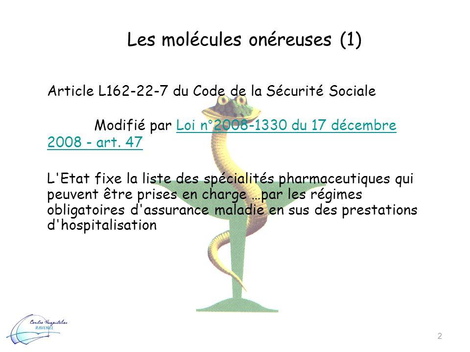 Les molécules onéreuses (1)