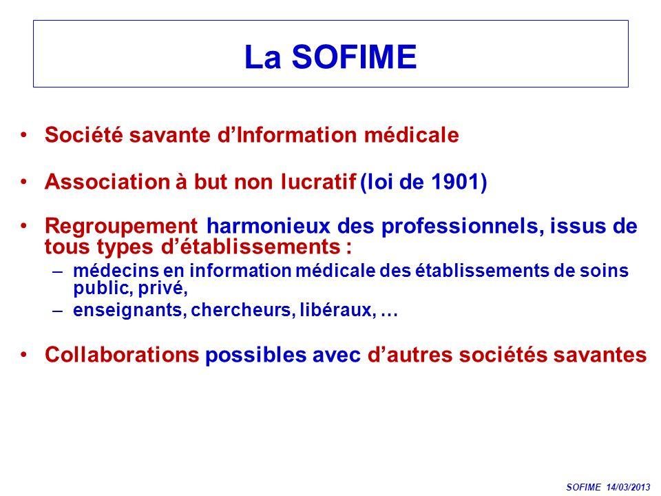 La SOFIME Société savante d'Information médicale