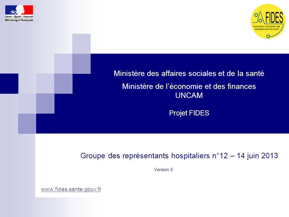Groupe des représentants hospitaliers n°12 – 14 juin 2013
