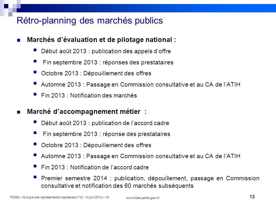 Rétro-planning des marchés publics
