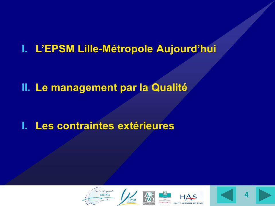 L'EPSM Lille-Métropole Aujourd'hui