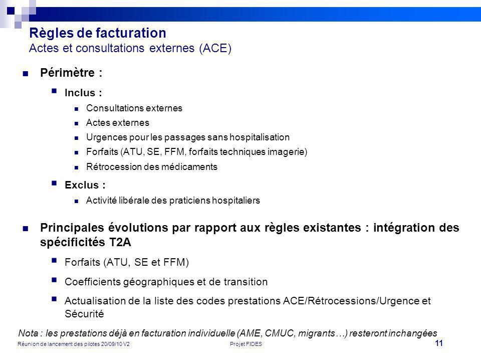 Règles de facturation Actes et consultations externes (ACE)