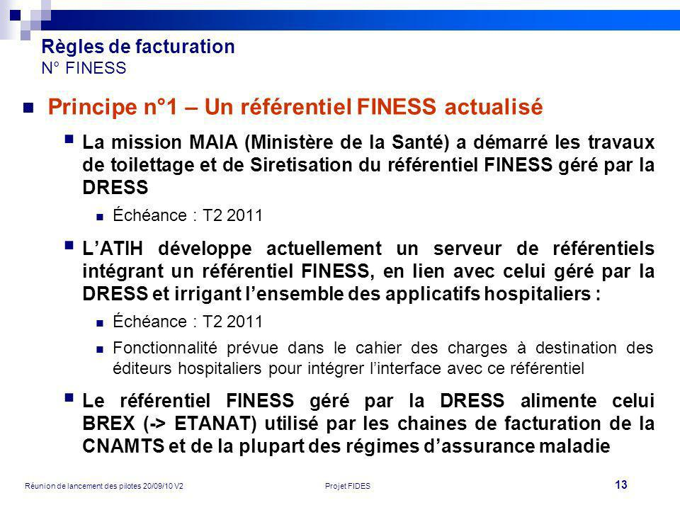 Règles de facturation N° FINESS