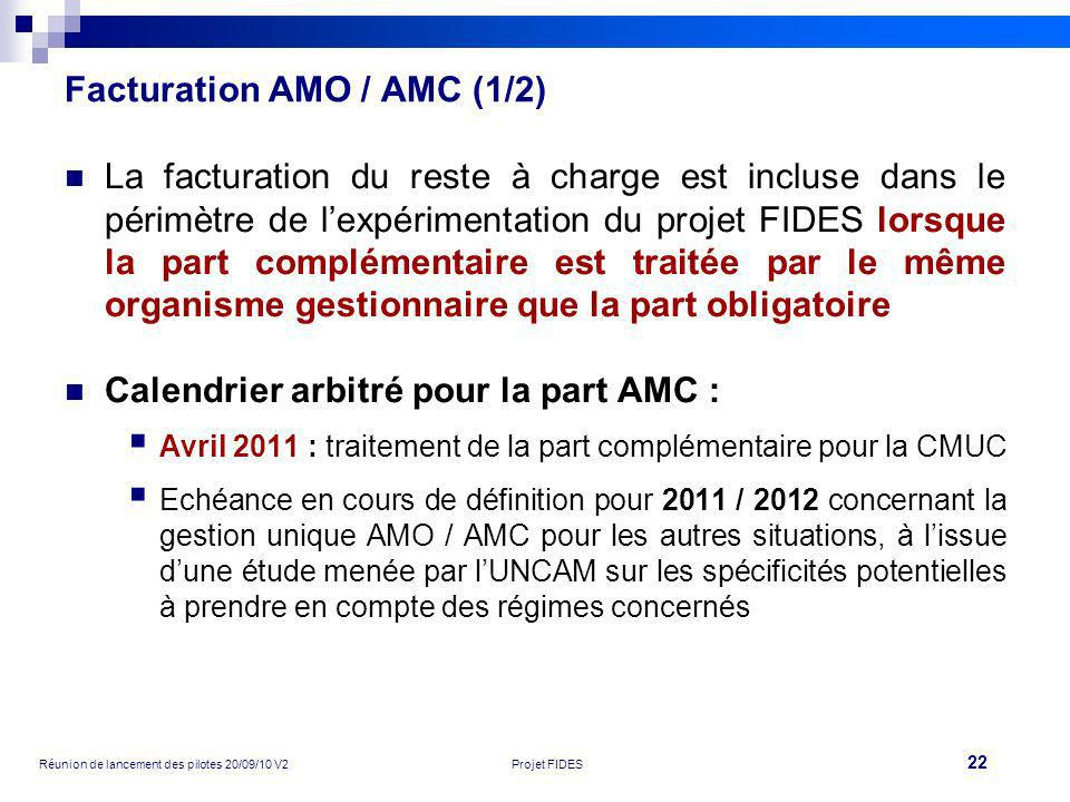 Facturation AMO / AMC (1/2)