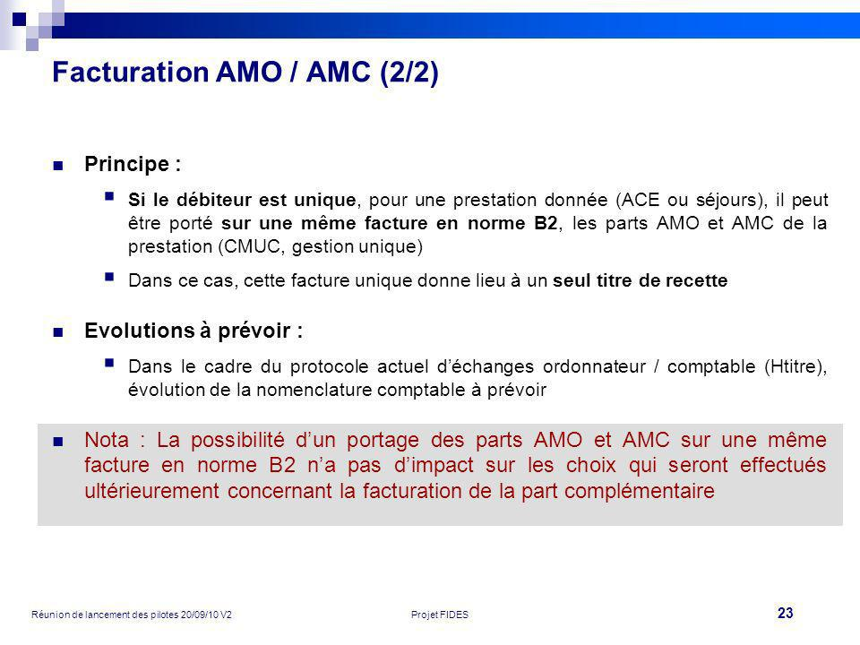 Facturation AMO / AMC (2/2)