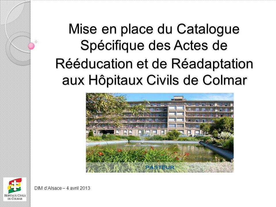 Mise en place du Catalogue Spécifique des Actes de
