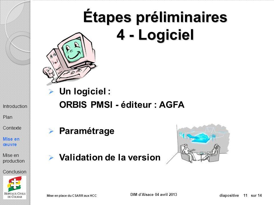 Étapes préliminaires 4 - Logiciel