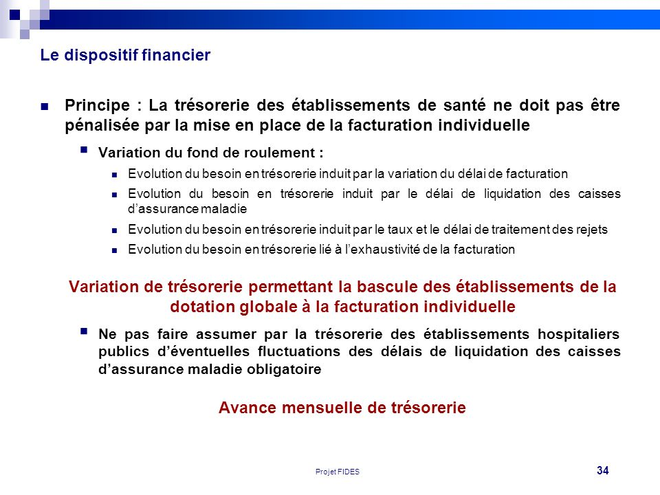 Le dispositif financier