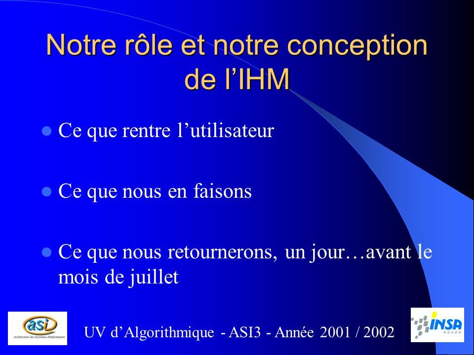 Notre rôle et notre conception de l'IHM