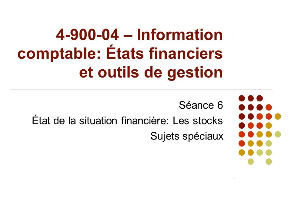 4-900-04 – Information comptable: États financiers et outils de gestion