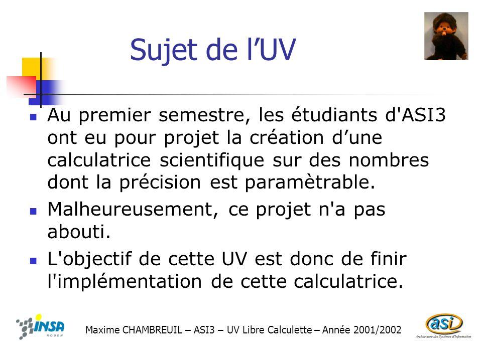 Sujet de l'UV
