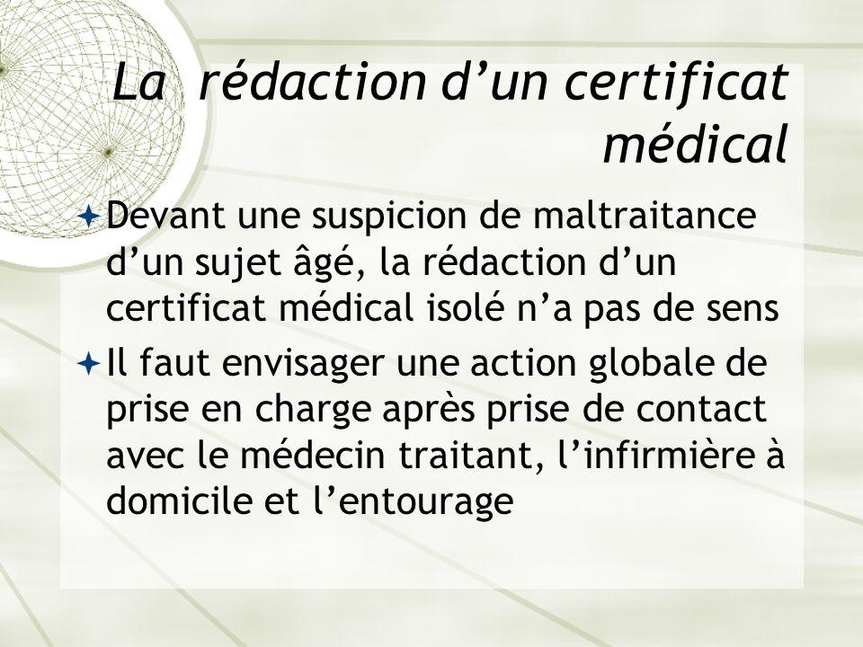 La rédaction d'un certificat médical