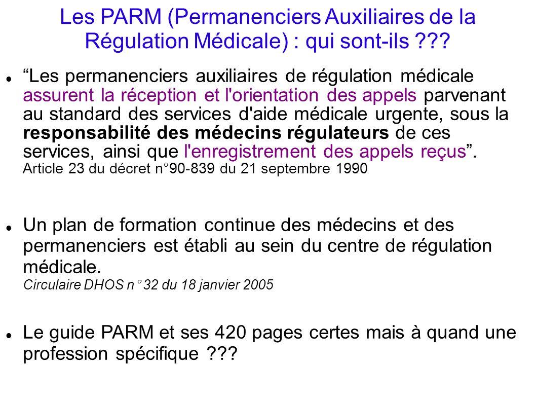 Les PARM (Permanenciers Auxiliaires de la Régulation Médicale) : qui sont-ils