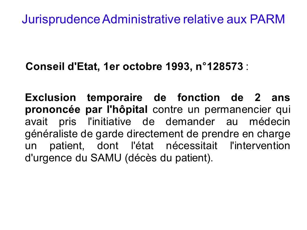 Jurisprudence Administrative relative aux PARM