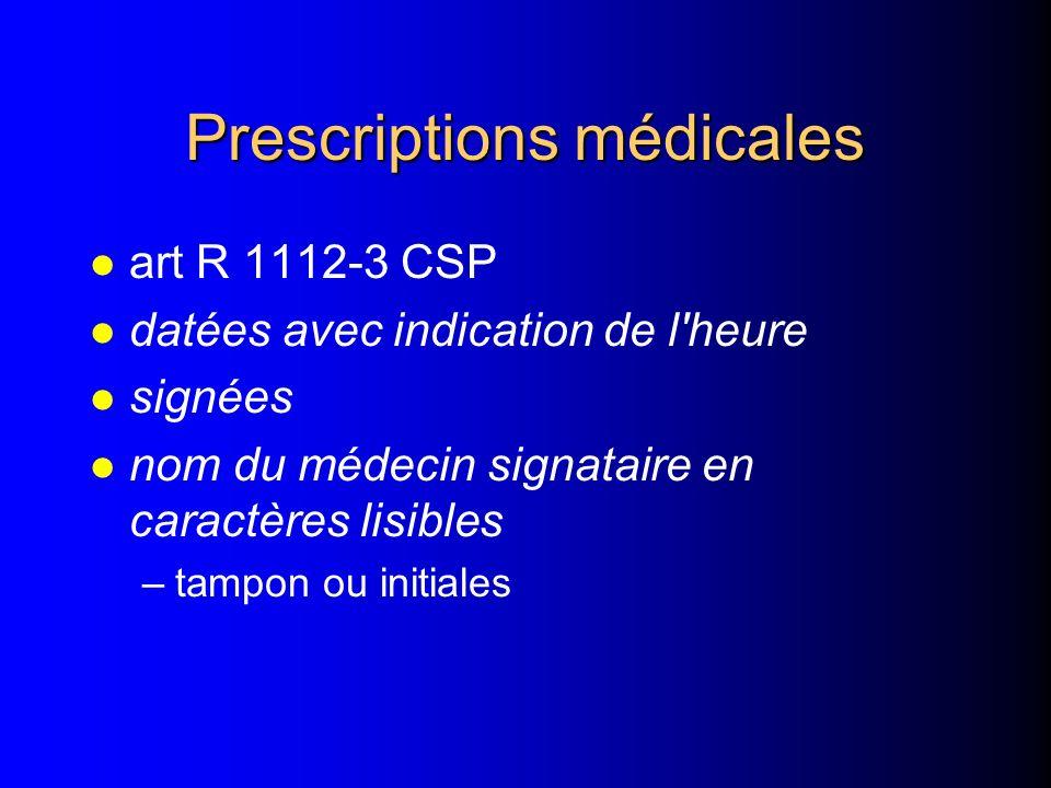 Prescriptions médicales