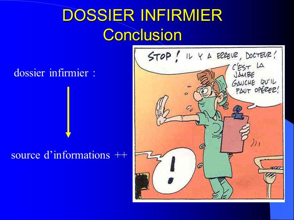 DOSSIER INFIRMIER Conclusion
