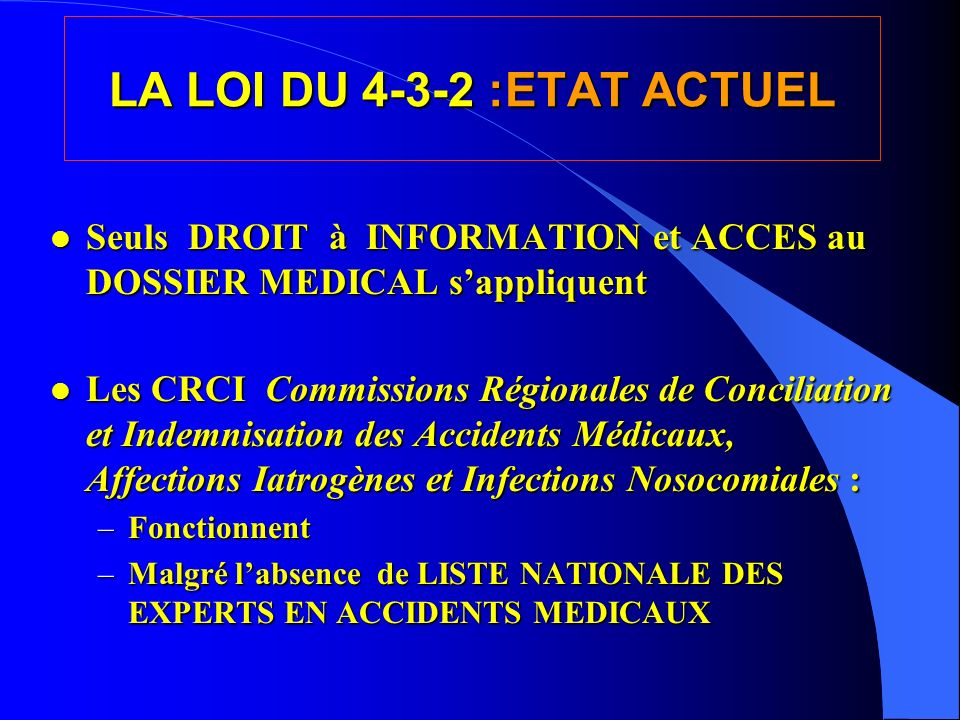 LA LOI DU 4-3-2 :ETAT ACTUEL