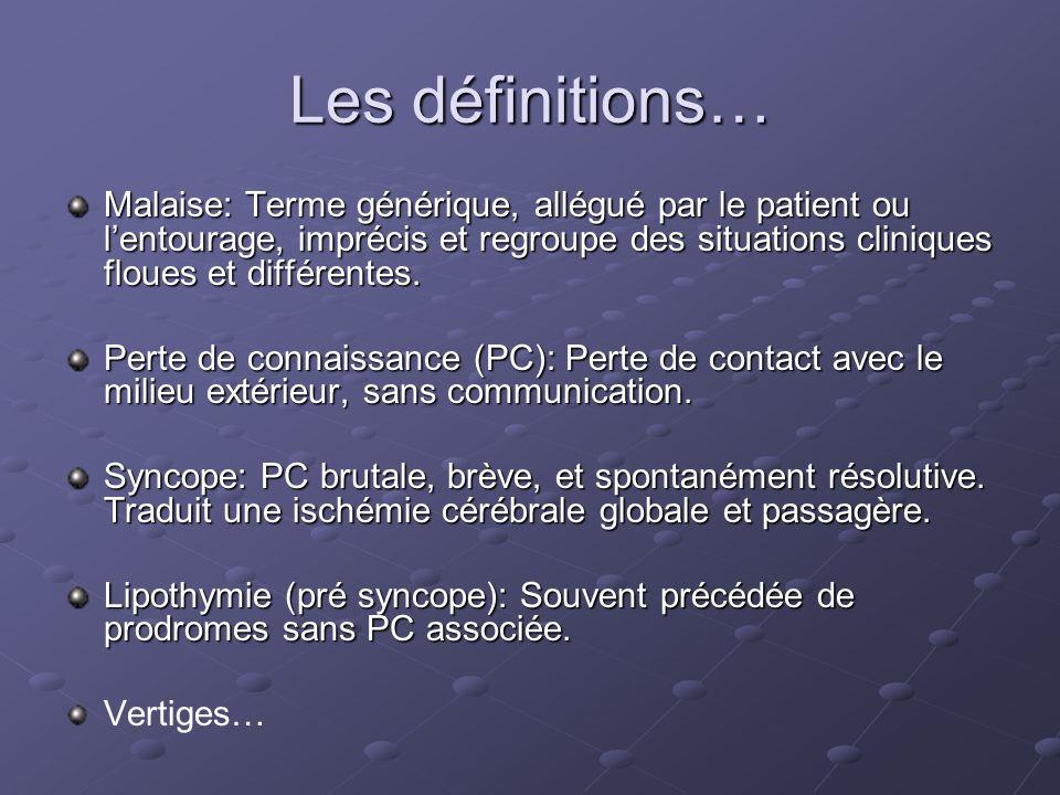 Les définitions…