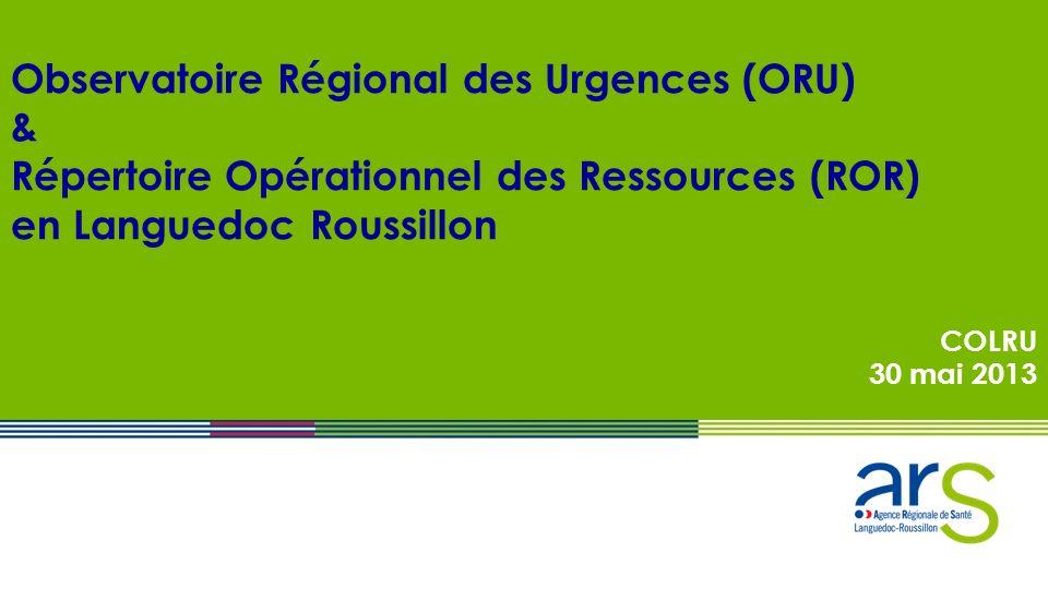 Observatoire Régional des Urgences (ORU) &