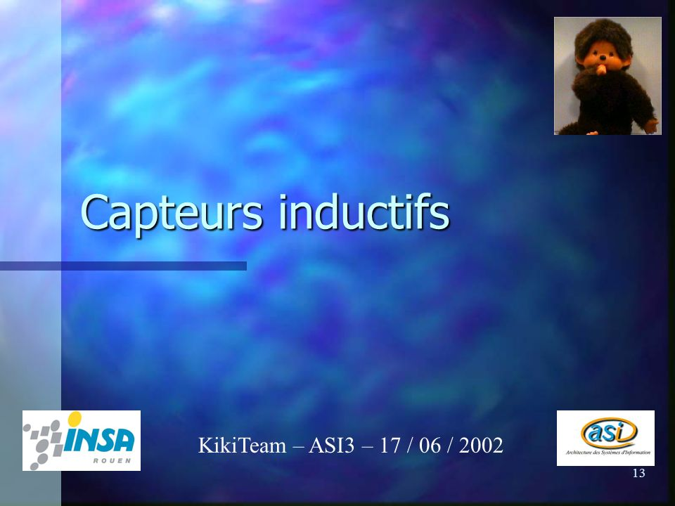 Capteurs inductifs KikiTeam – ASI3 – 17 / 06 / 2002