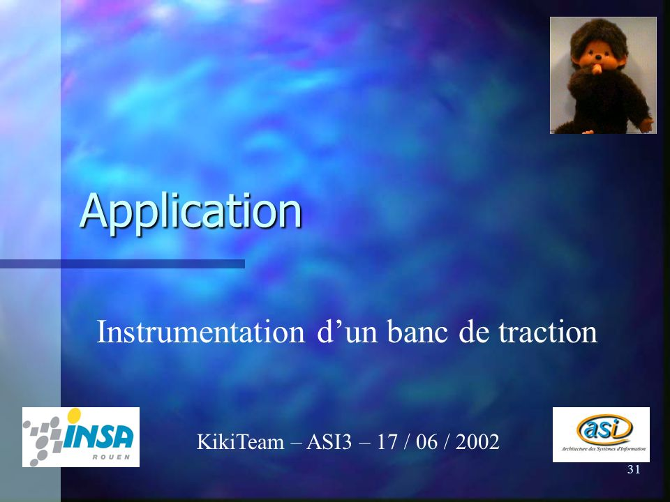 Application Instrumentation d'un banc de traction