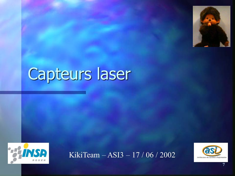 Capteurs laser KikiTeam – ASI3 – 17 / 06 / 2002